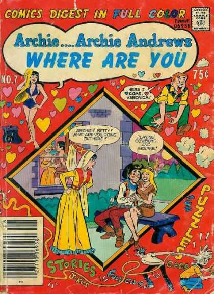 Where Are You 7 - Comics Digest In Full Color - Approved By The Comics Code - Woman - Hearts - Here I Come Veronica