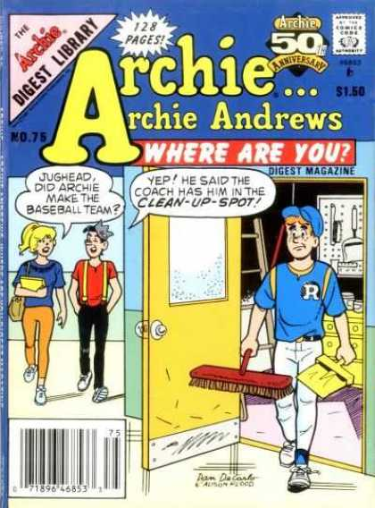 Where Are You 75 - Archie - Jughead - Broom - Door - Dustpan