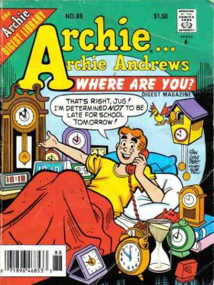 Where Are You 88 - Archie - Grandfather Clock - Cuckoo Clock - Bed - Telephone