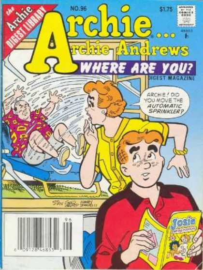 Where Are You 96 - Approved By The Comics Code - Archie Digest Library - Window - Woman - Man
