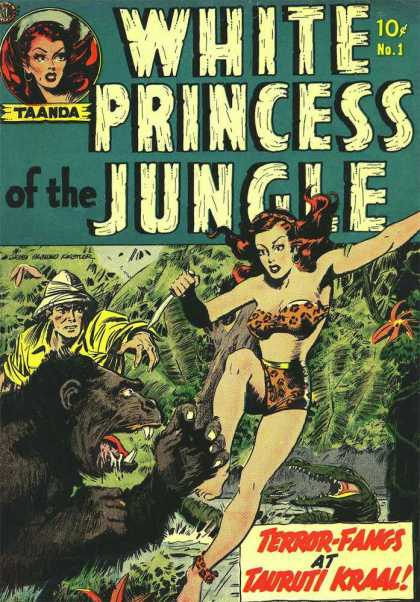 White Princess of the Jungle 1 - Taanda - Ape - Knife - Leopard Bikini - Crocodile