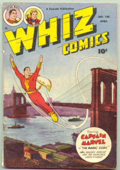 Whiz Comics 108 - Im Flying - Somewhere Over The Rainbow - I Wanted To Be A Ballet Dancer - Gee Whiz - Captain Marvel