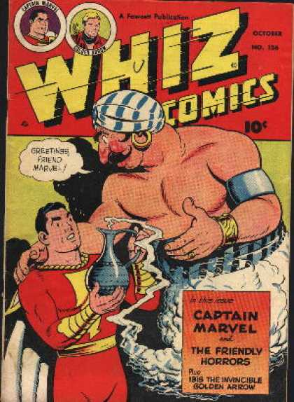 Whiz Comics 126 - Genie - The Friendly Horrors - Isis The Invisible - Golden Arrow - Turban