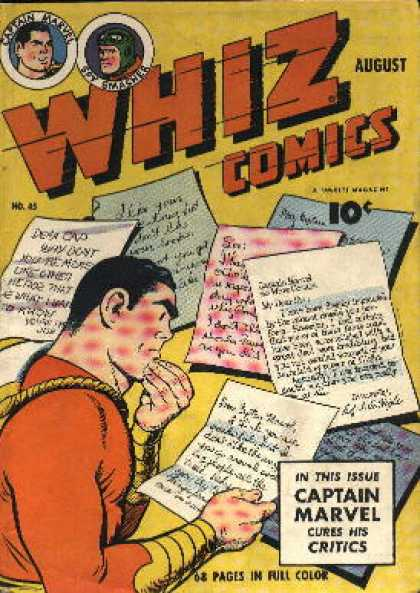 Whiz Comics 45 - Captain Marvel - Letters - Critics - Spy Smasher - Issue - Clarence Beck