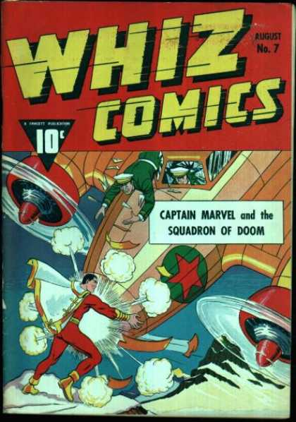 Whiz Comics 7 - Captain Marvel - Propeller - 10 Cents - Aircraft - Star - Clarence Beck