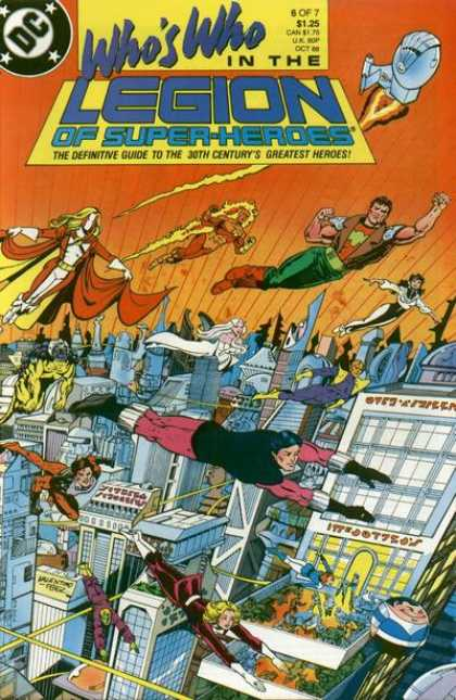 Who's Who in the Legion of Super-Heroes 6 - The Definitive Guide To The 39th Century Heroes - Dc Comics - Rocket Ship - City - Part 6 Of 7 - George Perez, Jim Valentino