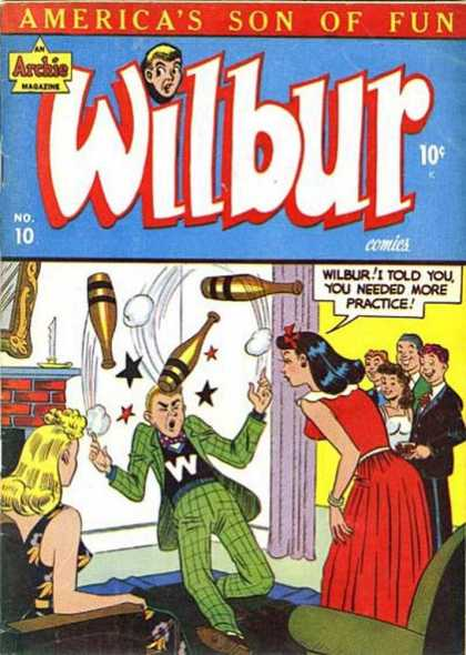 Wilbur 10 - Americas Son Of Fun - Archie Magazine - Bottle - Tie - Yellow Air