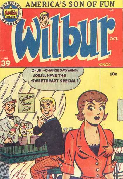 Wilbur 39 - Sweetheart - Ice Cream - Mirror - Lady - Counter