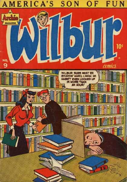 Wilbur 9 - Speech Bubble - Archie - Library - Books - Shelves