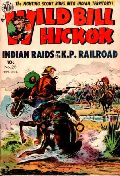 Wild Bill Hickok 20 - Fighting - Horse - Scout - Indian - Territory