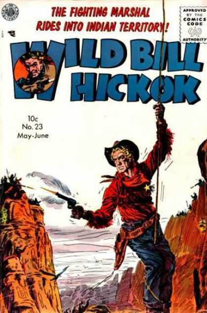 Wild Bill Hickok 23 - The Fighting Marshal Rides Into Indian Teritory - Canyon - Hanging On A Rope - Shooting Indians - Eagle