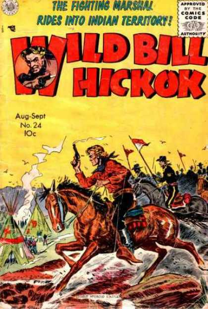 Wild Bill Hickok 24 - Horse - Smoking Gun - Indian Tent - Birds - Rocks