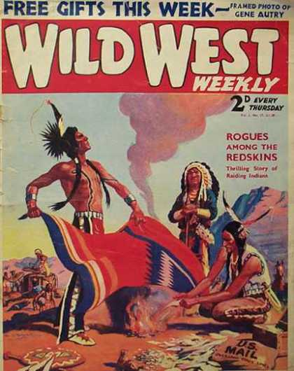 Wild West Weekly 17 - Rogues Among The Redskins - Us Mail Bag - Blanket - Fire - Smoke Signals