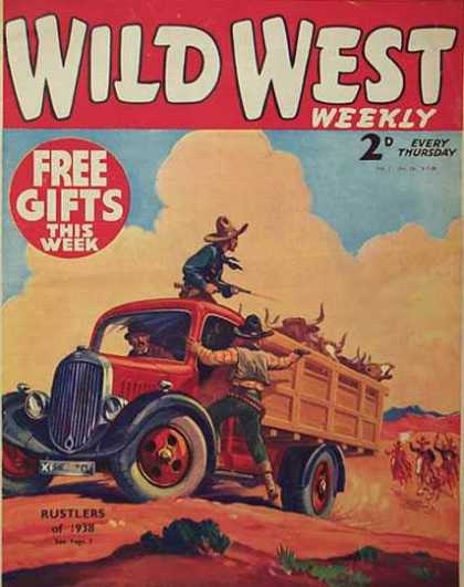 Wild West Weekly 18 - Wild West - Cowboys - Rustlers - Thursday Cowboys - Weekly Comics