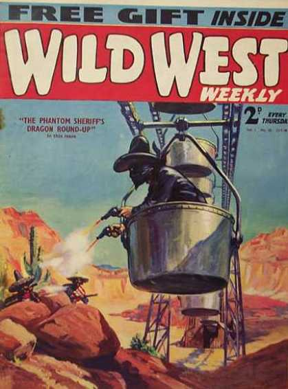Wild West Weekly 20 - Cactus - Free Gift Inside - Every Thursday - The Phantom Sheriffs Dragon Round-up - Rocks