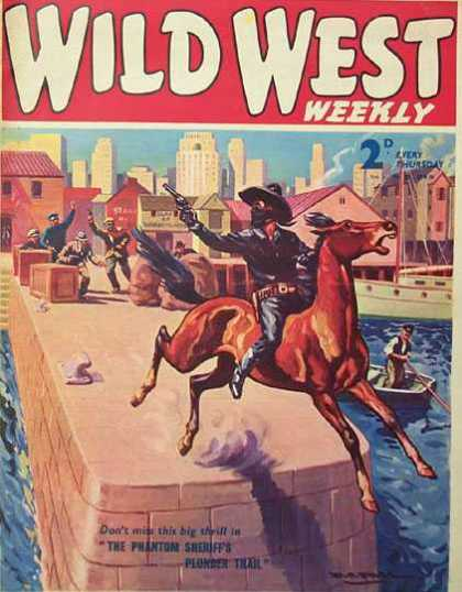Wild West Weekly 25 - Western - Cowboy - Fight - Wild - Horse