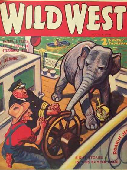 Wild West Weekly 38 - Elephant - Ships Bridge - Captain - Engine Telegraph - Ships Wheel