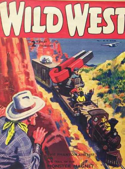 Wild West Weekly 43 - Magnet - Train - Cowboy - Mountain - Airplane