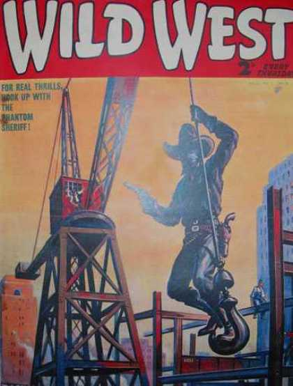 Wild West Weekly 45 - Cowboy - Crane - Hook - Six Shooter - Steelworker