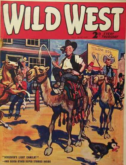 Wild West Weekly 48 - Cowboys - Cowboy Hat - Horse - Cammel - Wild West