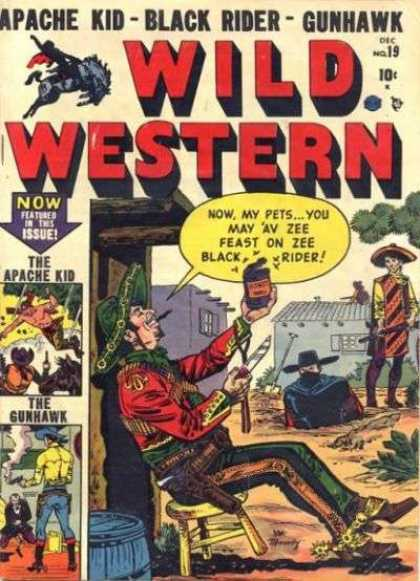 Wild Western 19 - Black Rider - Gunhawk - Apache Kid - Issue - Cowboys