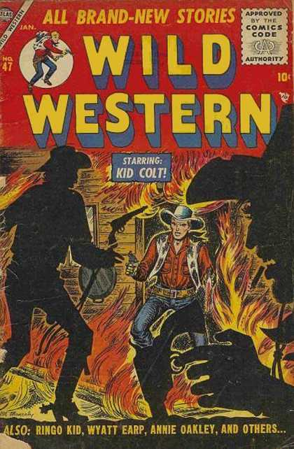 Wild Western 47 - Kid Colt - Cowboys - Ringo Kid - Wyatt Earp - Fire