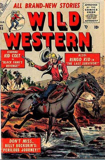 Wild Western 48 - All Brand-new Stories - Approved By The Comics Code Authority - Horse - Gun - Water