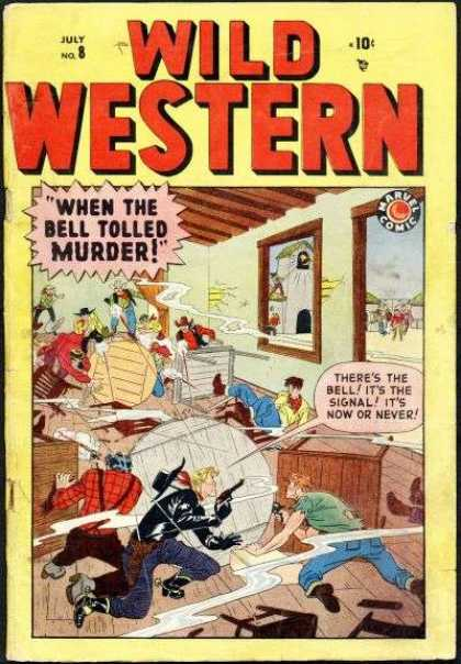 Wild Western 8 - July - When The Bell Tolled Murder - Window - Man - Gun