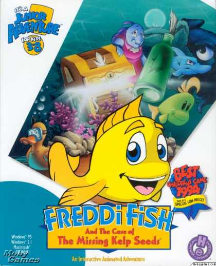Windows 3.x Games - Freddi Fish and the Case of the Missing Kelp Seeds