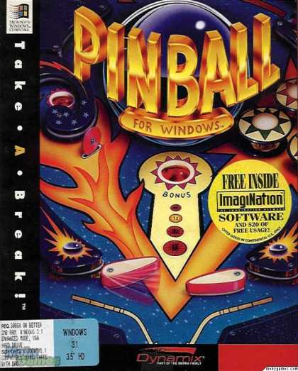 Windows 3.x Games - Take a Break! Pinball