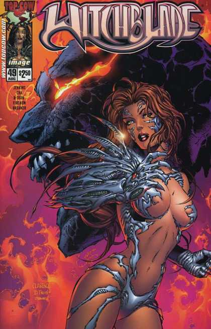 Witchblade 49 - Costume - Witch - Woman - Fire - Red Eyes