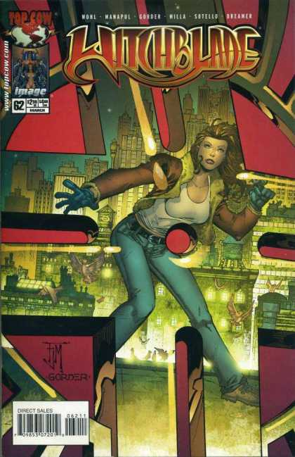 Witchblade 62 - Top Cow - Gorder - City Buildings - Blue Jeans - White Tank Top - Francis Manapul