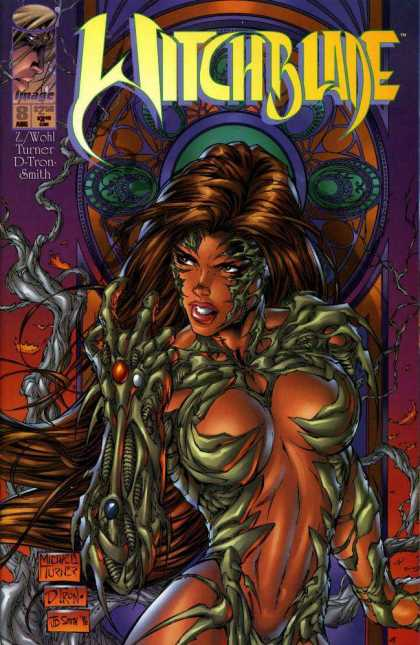Witchblade 8 - The Lady Having Three Type Of Colour In His Hand - One Is Orange Colour - One Is White Colour - One Is Blue Colour - She Dint Ware The Dress Some What It Like Evil Dress - Michael Turner
