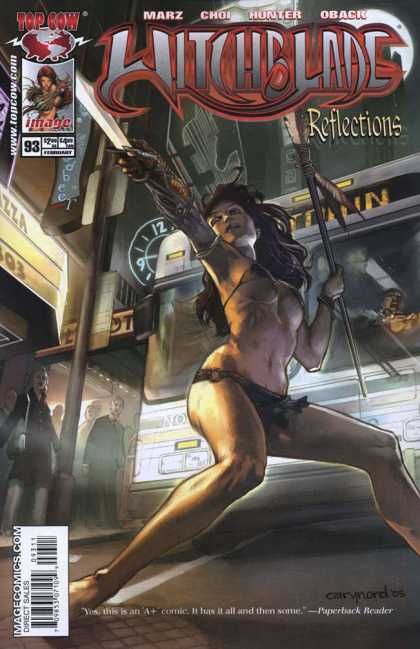 Witchblade 93 - Bikini - Blade - Sword - Spear - City