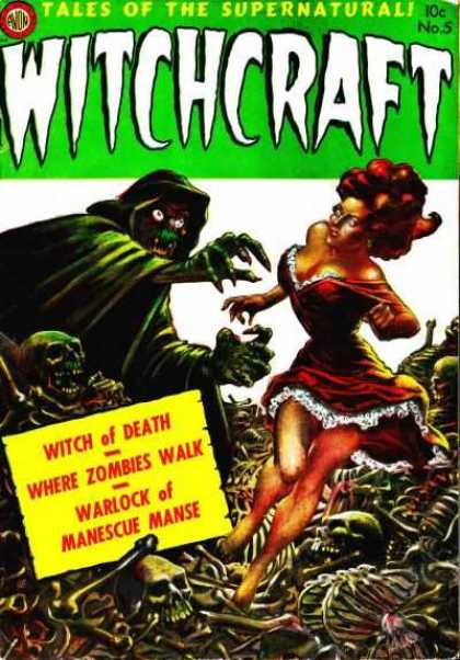 Witchcraft 5 - Witch Of Death - Where Zombies Walk - Warlock Of Manescue Manse - Skeletons - Beautiful Woman