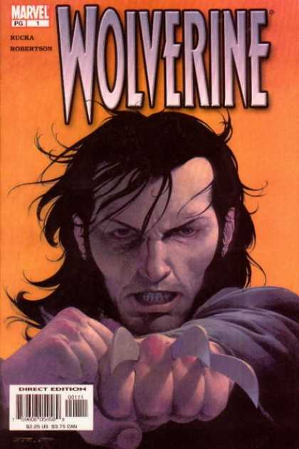Wolverine (2003) 1 - Marvel - Rucka Robertson - Direct Edition - Claws - Mutant - Esad Ribic