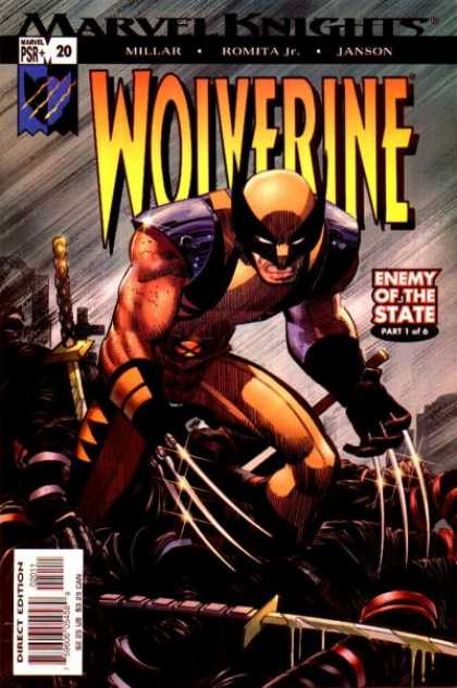 Wolverine (2003) 20 - Marvel Knights - Millar - Romita Jr - Janson - Enemy Of The State - John Romita