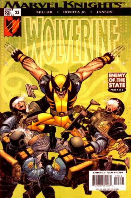 Wolverine (2003) 23 - Enemy Of The State - Janson - Millar - Marvel Knights - Gun - John Romita