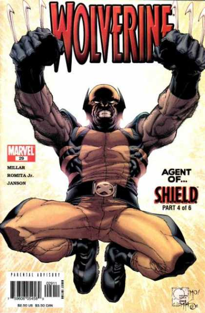 Wolverine (2003) 29 - Millar - Romita Jr - Janson - Agent Of Shield - Posture - Joe Quesada, Morry Hollowell