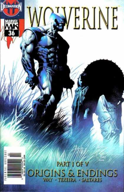 Wolverine (2003) 36 - Way - Texeira - Saltares - Grass Field - Black Orb - Joe Quesada, Richard Isanove
