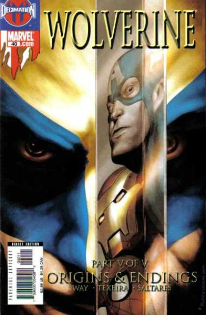 Wolverine (2003) 40 - Origins U0026 Endings - Captain America - Iron Man - Spider-man - Reflections