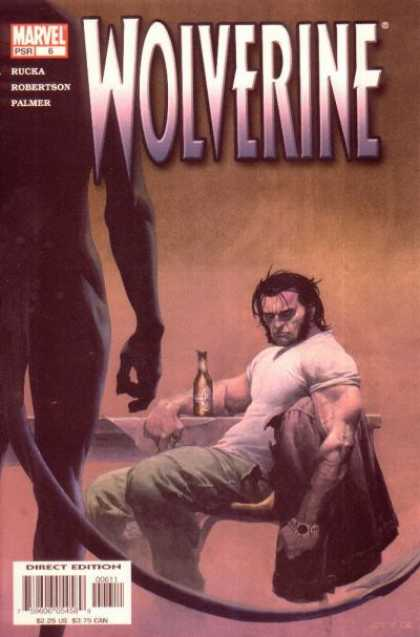 Wolverine (2003) 6 - Mavel Comics - Tail - White Shirt - Bottle - Watch - Esad Ribic