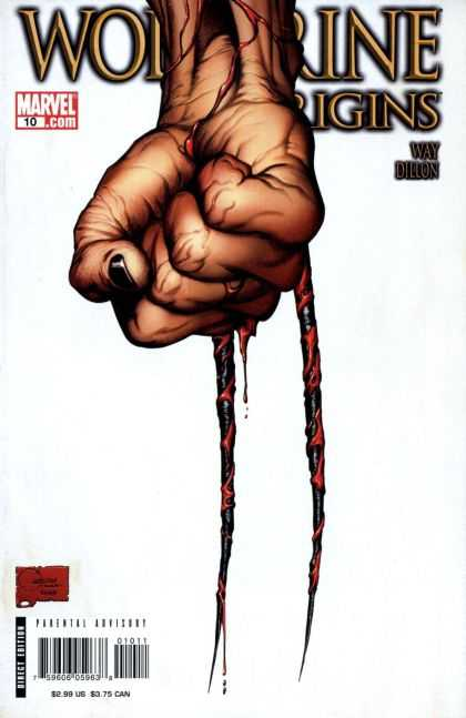 Wolverine Origins 10 - Marvel - Fist - Black Nail Polish - Blood - Veins