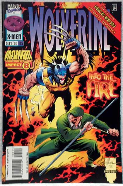 Wolverine 105 - Into The Fire - Flames - Onslaught Impact 2 - Heros Reborn - Green Uniform U0026 Hat
