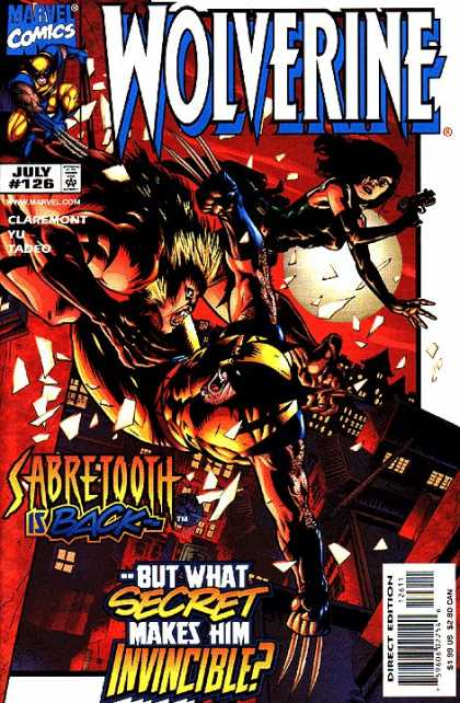 Wolverine 126 - Marvel - Sabertooth Is Back - What Secret Makes Him Invencible - Gun - Moonlight Battle - Leinil Yu