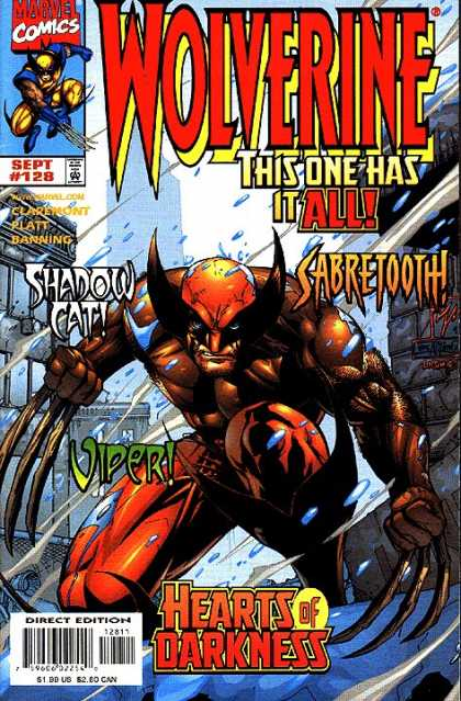 Wolverine 128 - Sabretooth - Sahdow Cate - Viper - Hearts Of Darkness - Claws - Leinil Yu