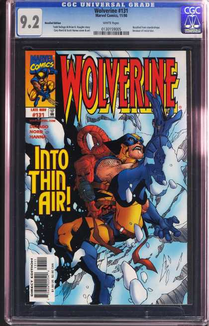 Wolverine 131 - Marvel - Hanna - X-men - Into Thin Air - Nord