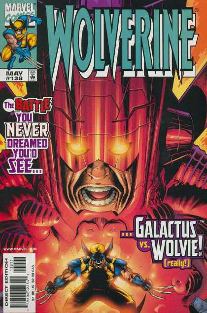 Wolverine 138 - Marvel - Claws - Mask - Galactus - Direct Edition - Sean Chen