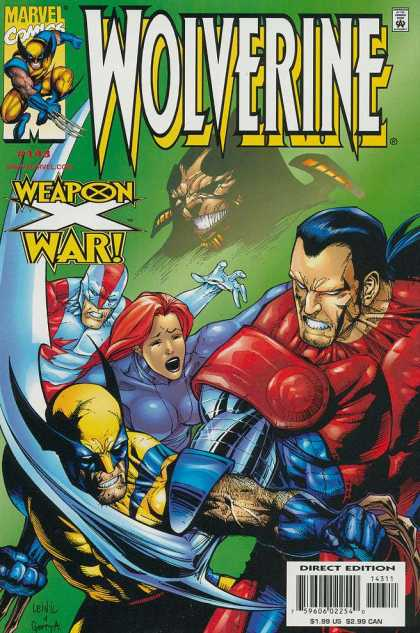 Wolverine 143 - Marvel Comics - Weapon - Direct Edition - War - Approved By The Comics Code Authority - Leinil Yu