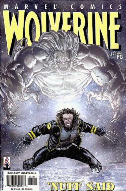 Wolverine 171 - Marvel Comics - Snow - Claws - Fangs - Nuff Said - Jose Jimenez-Momediano, Sean Chen